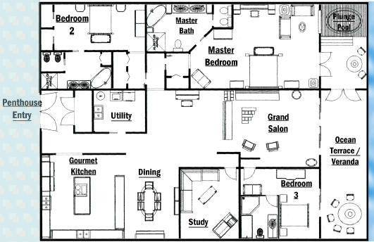 Pin Floor Plan Penthouse Apartment Pinterest