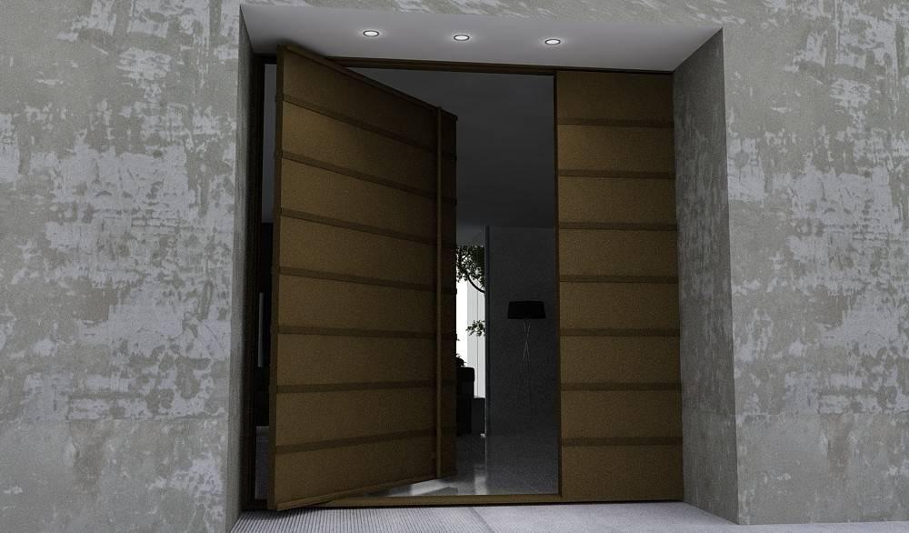 Pin Modern Front Steel Custom Designed Doors Attractive Design