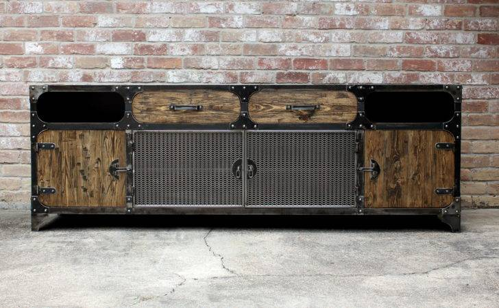 Pin Modern Industrial Furniuture Media Storage Pinterest