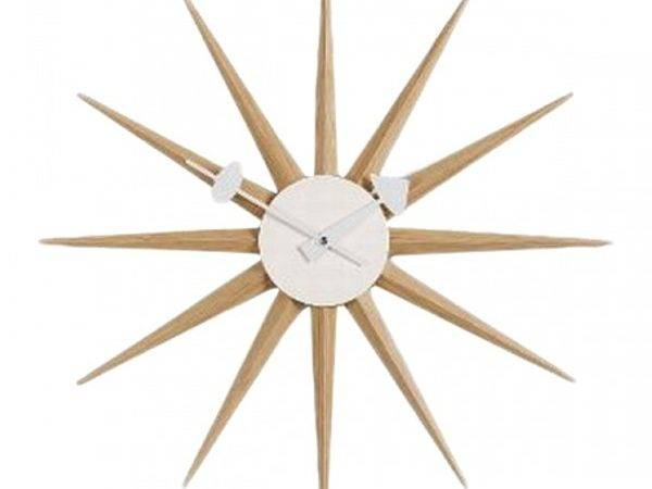 Pin Nelson Sunburst Clock George Ball Tub Chairs