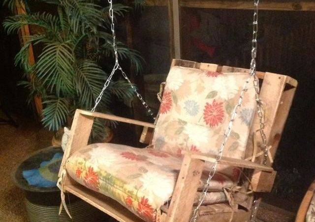 Pin Pallet Swings Chair Bed Bench Seating Plans Pinterest