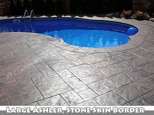 Pin Stamped Concrete Walkway Around Pool Cornerstone Pinterest