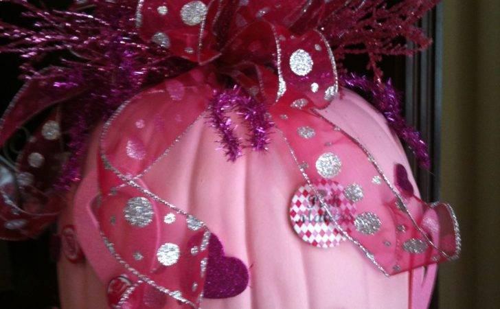 Pink Decorated Pumpkins Awareness Pumpkin