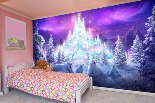 Pink Girl Bedroom Murals Girls Wall Room
