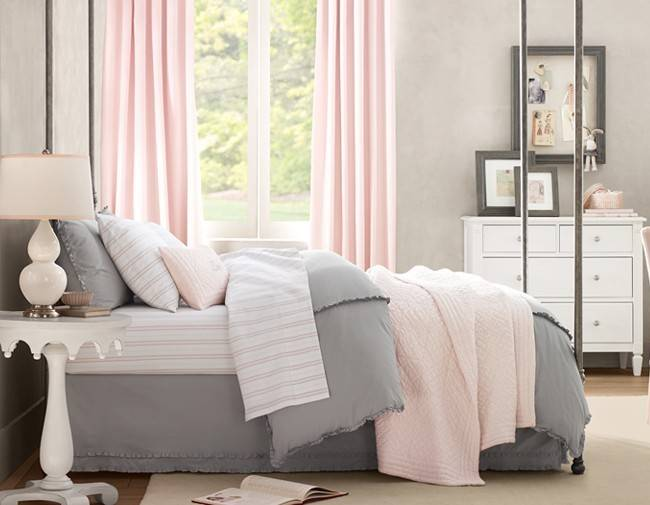 Pink Gray Bedroom Think Nersian Pashion Cafe