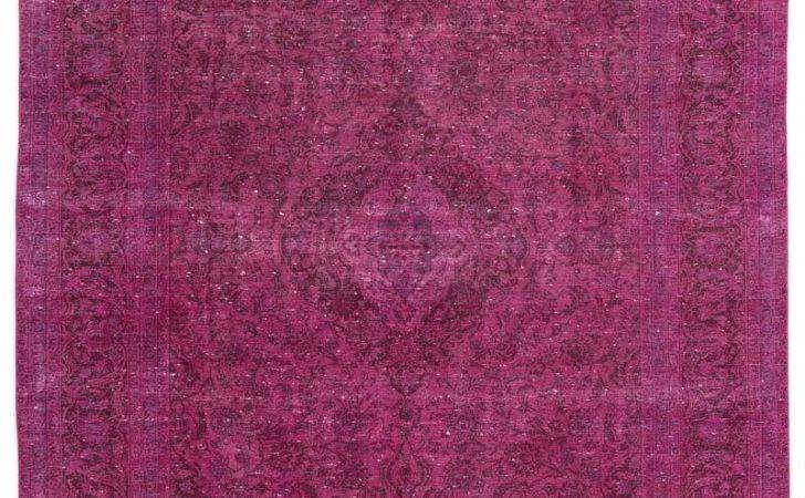 Pink Over Dyed Persian Vintage Rug Kilim Rugs Overdyed