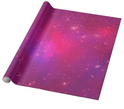 Pink Overlay Galaxy Cluster Wrapping Paper Zazzle