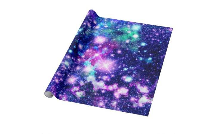 Pink Purple Galaxy Stars Wrapping Paper Zazzle