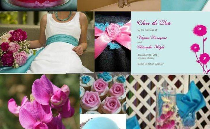 Pink Turquoise Wedding Flowers Ideas