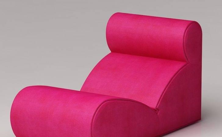 Pink Unique Design Comfy Chairs Bedroom