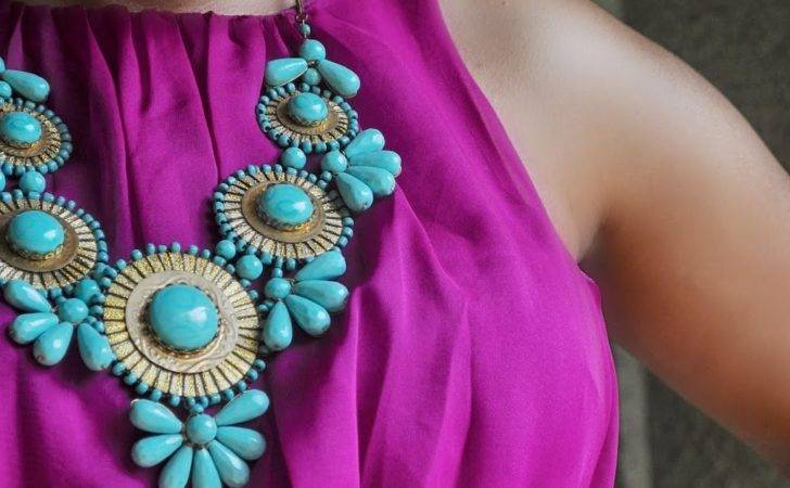 Pinspired Ootd Fuschia Dress Turquoise All Fits One