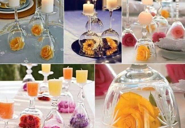 Pinterest Glass Centerpieces Wine Candles