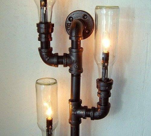 Pipe Lamp Industrial Lighting Wall Light Steampunk Repurposed