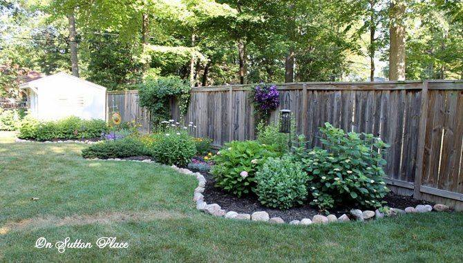 Plant Fence Row Garden Love Field Stones Outlining