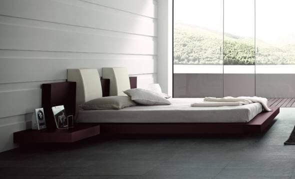 Platform Bed Floating Frame Furniture Daniele Lago