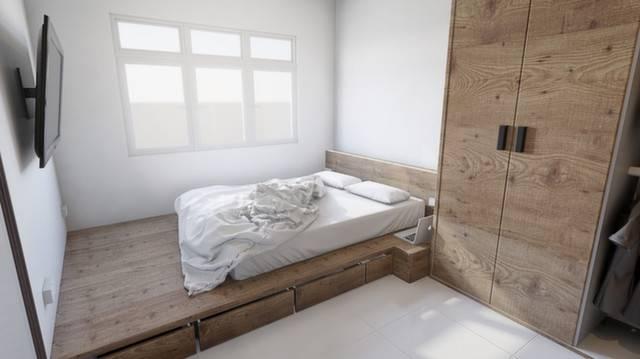 Platform Bed Hdb Storage Bedroom Design