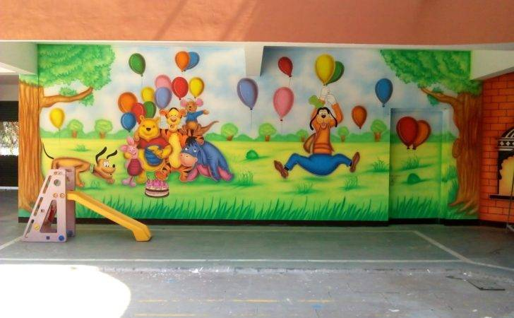 Play School Wall Painting Decoration
