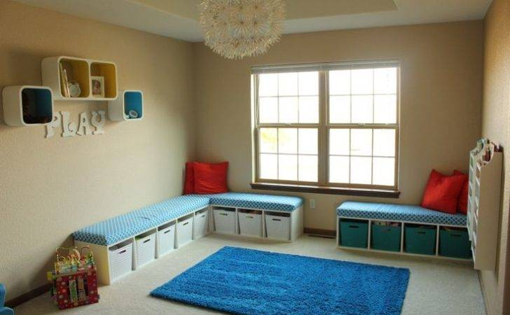 Playroom Diy Toy Storage Benches Upholstered Seats