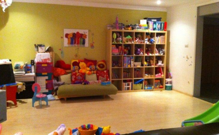 Playroom Ideas Simple Design Wooden Flooring Green Wall