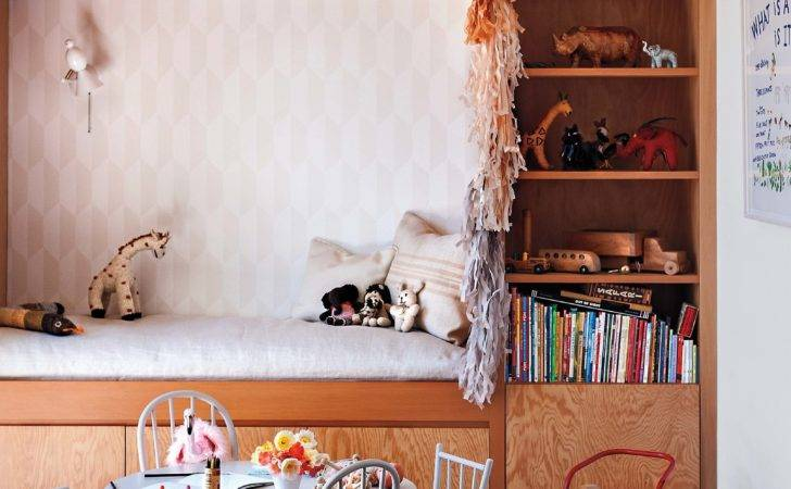 Playroom Jed Jessica Built Wall Unit Daybed Shelves