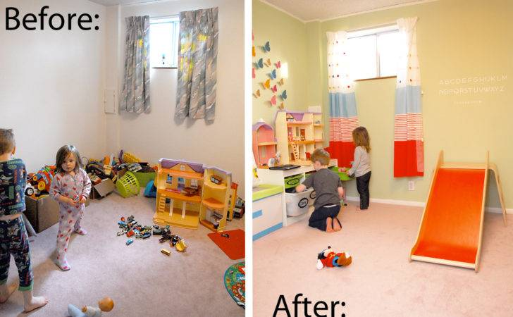 Playroom Reveal Before After Shwin