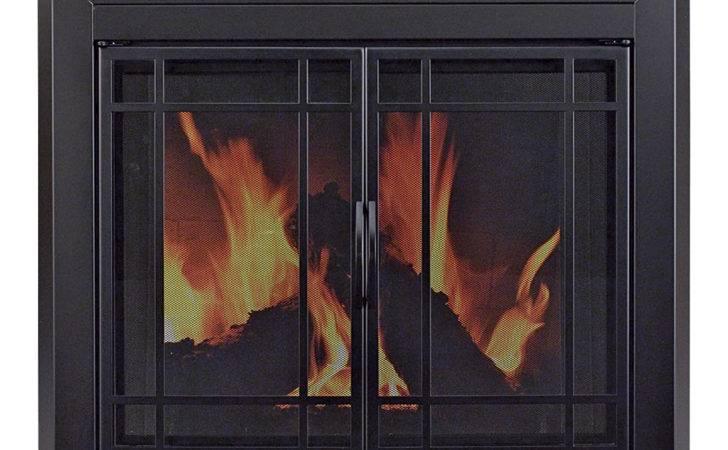 Pleasant Hearth Easton Fireplace Glass Door Masonry Fireplaces
