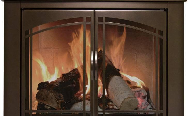 Pleasant Hearth Fenwick Fireplace Glass Door Bronze