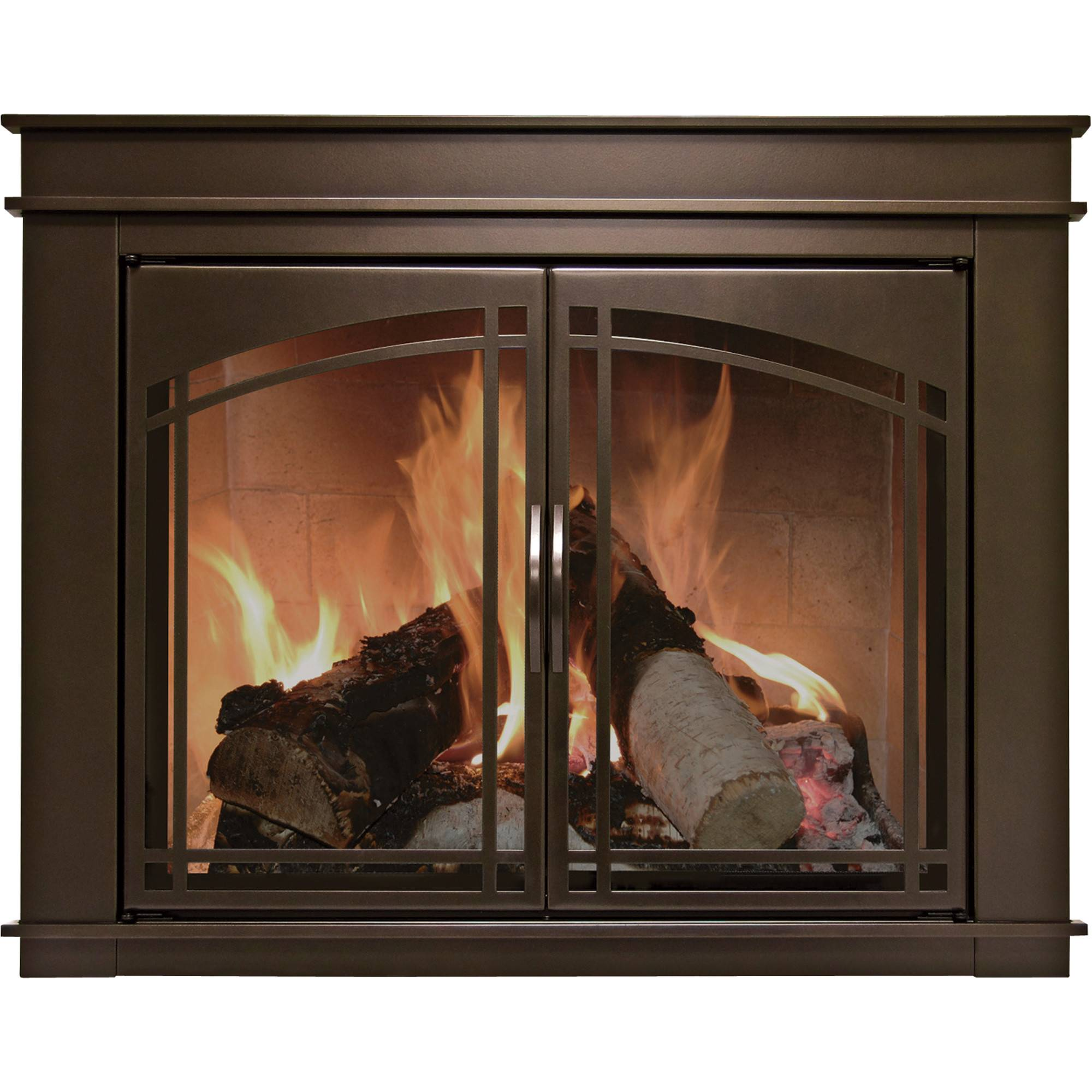 Pleasant Hearth Fenwick Fireplace Glass Door Bronze