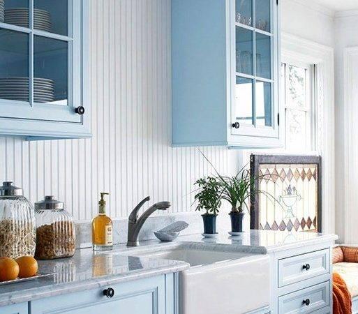 Pocketful Blue Kitchen Cabinets