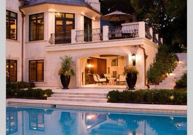 Pool Amazing Big House Dream Balcony Ideas