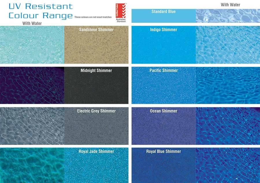 Pool Colours Swimming Pools Concrete Fibreglass