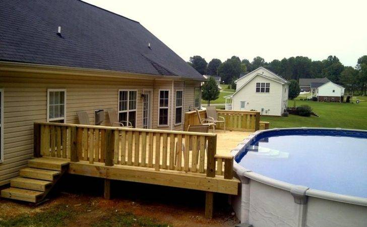 Pool Deck Also Above Ground Well