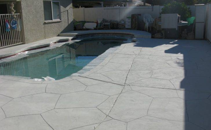 Pool Deck Had Old Laminating Unlevel Cool After
