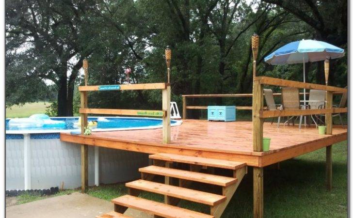 Pool Deck Ideas Plans Decks Home Decorating Pyb Rzn
