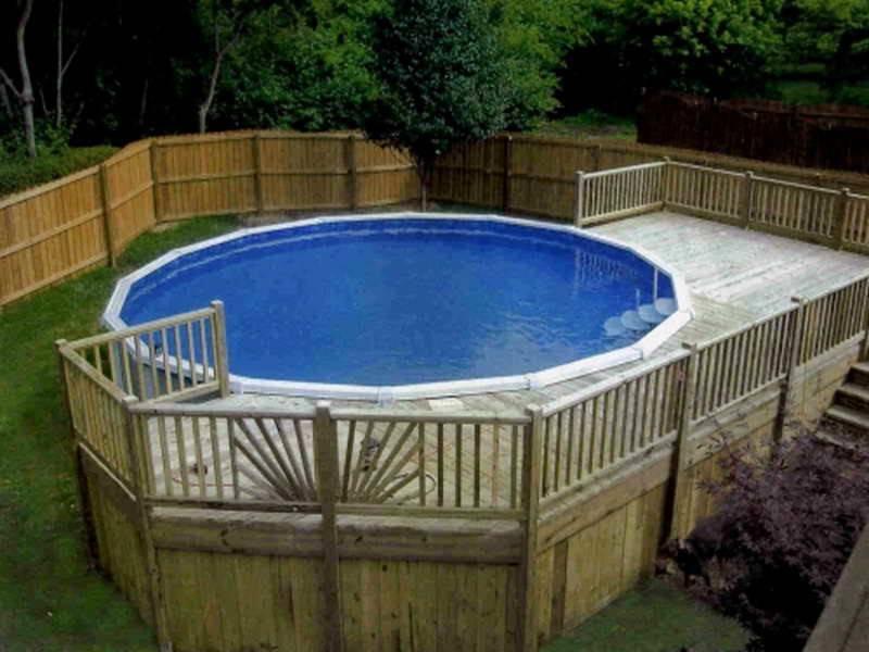 Pool Deck Plans Above Ground Decks Pools