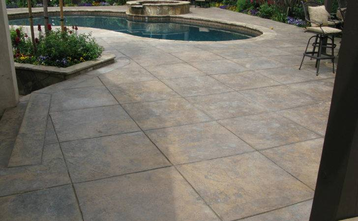 Pool Deck Walkwaynh Stamped Concrete Cost