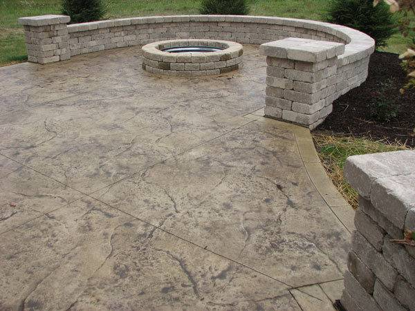Pool Deck Walkwaynh Stamped Concrete Patios Cost Ideas Pavers