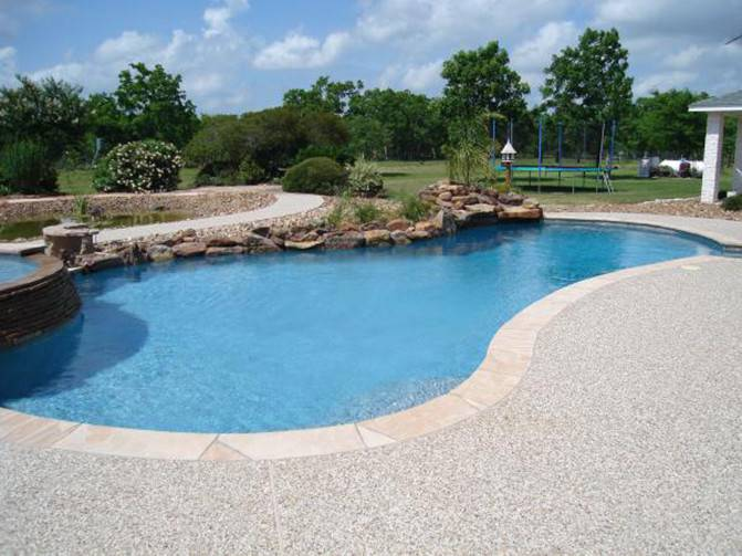 Pool Decking Options Resurfacing Hand Seeded Gravel Deck