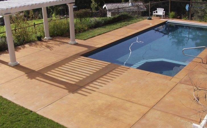 Pool Decks Swimming Deck Design Photos Info Concrete