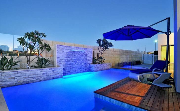 Pool Design Using Bluestone Decking Decorative Lighting
