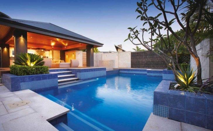 Pool Designs Ideas Bottom Blue Ceramic Tile Modern Design