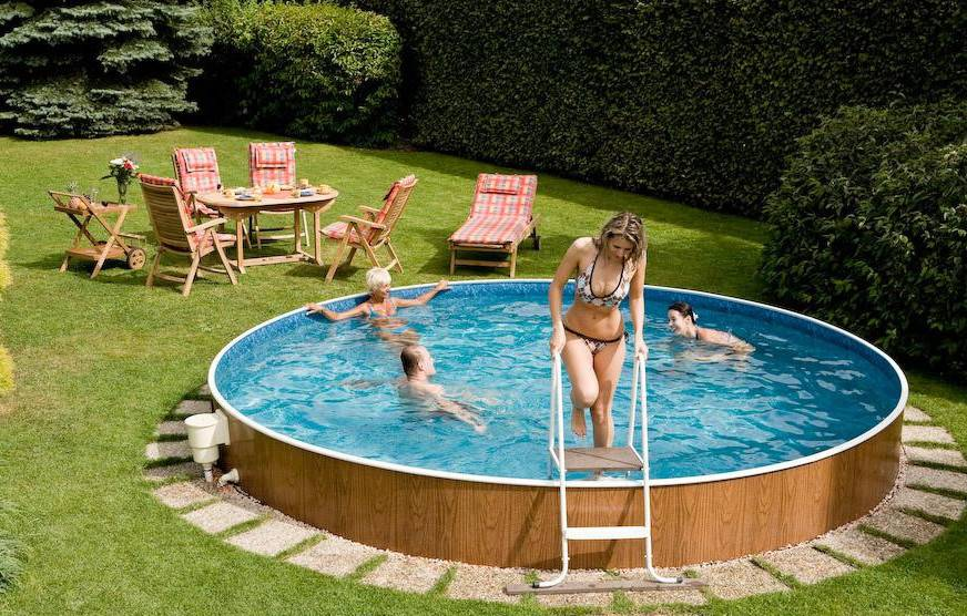 Pool Designs Small Yards Above Ground Swimming Pools