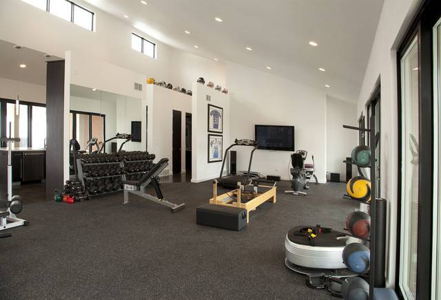 Pool House Work Out Facility Modern Home Gym Other Metro