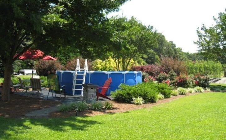 Pool Idea Above Ground Decks Landscaping Pools