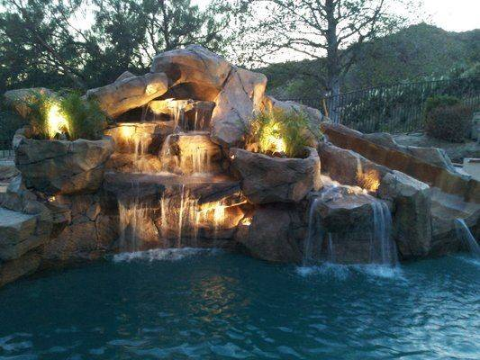 Pool Ideas Google Search Waterfalls Waterfall Slide Rock