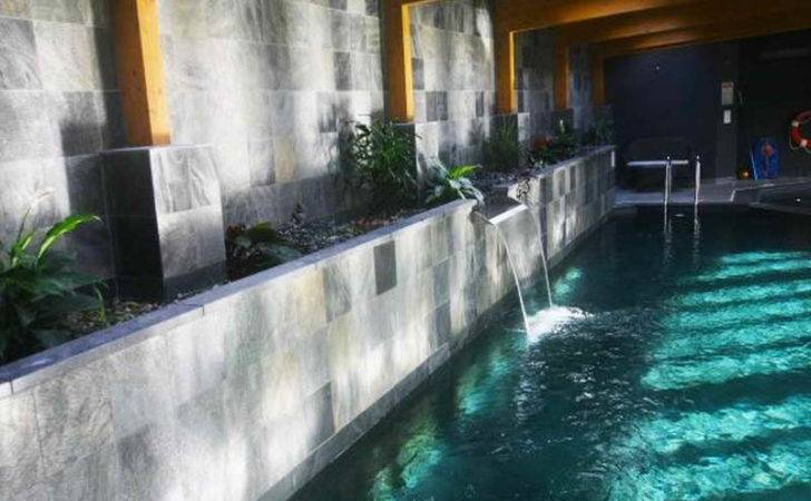 Pool Ideas Indoor Waterfall Design Unique