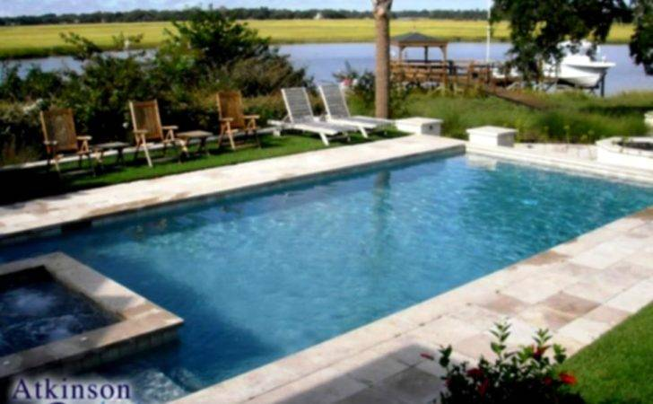 Pool Landscaping Related Keywords Suggestions Rectangular