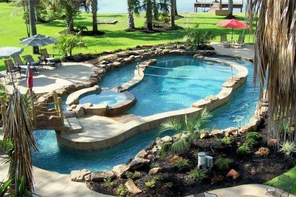 Pool Lazy River Around Home Pinterest