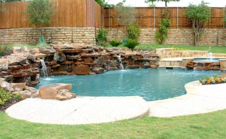 Pool Natural Rock Swimming Designs Ideas Keller Hero