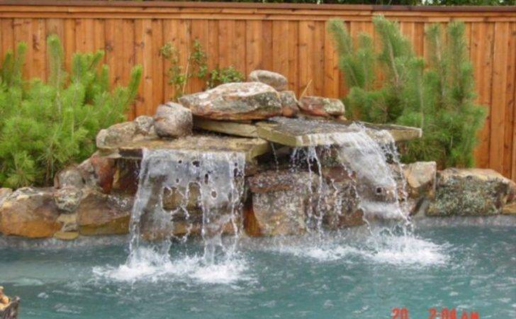 Pool Rock Waterfalls Waterfall Construction Natural Blue Pools
